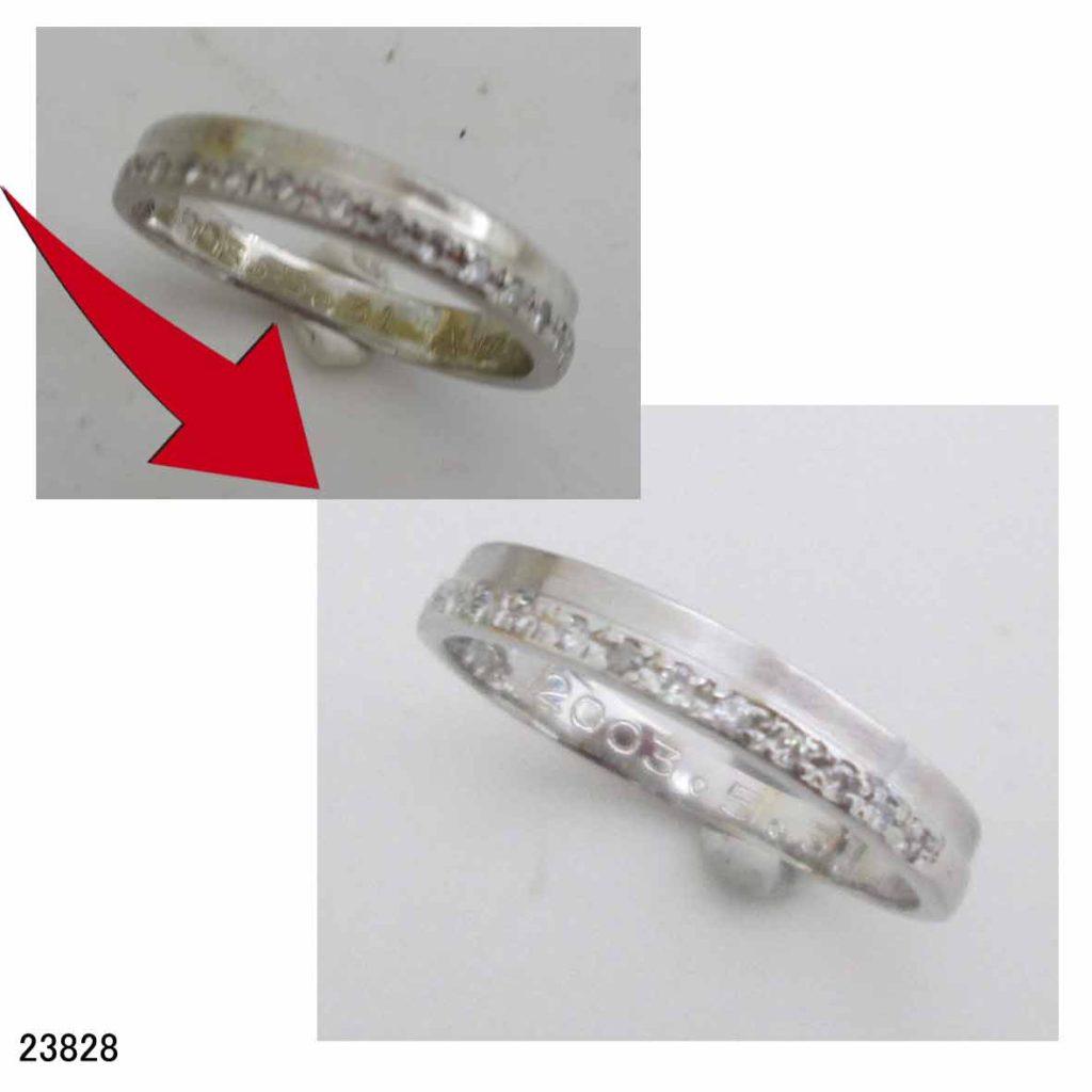 23828プラチナ結婚指輪サイズ直し