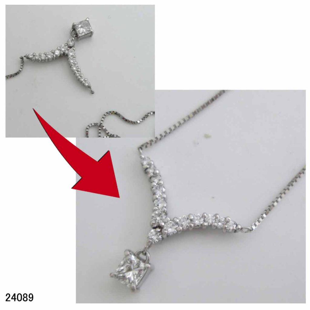 24089ダイヤプチネックレス修理
