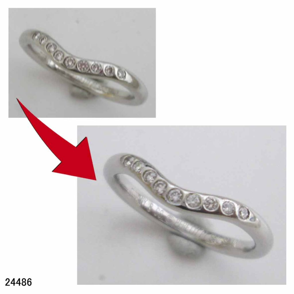 24486プラチナ950ティファニー指輪サイズ直し