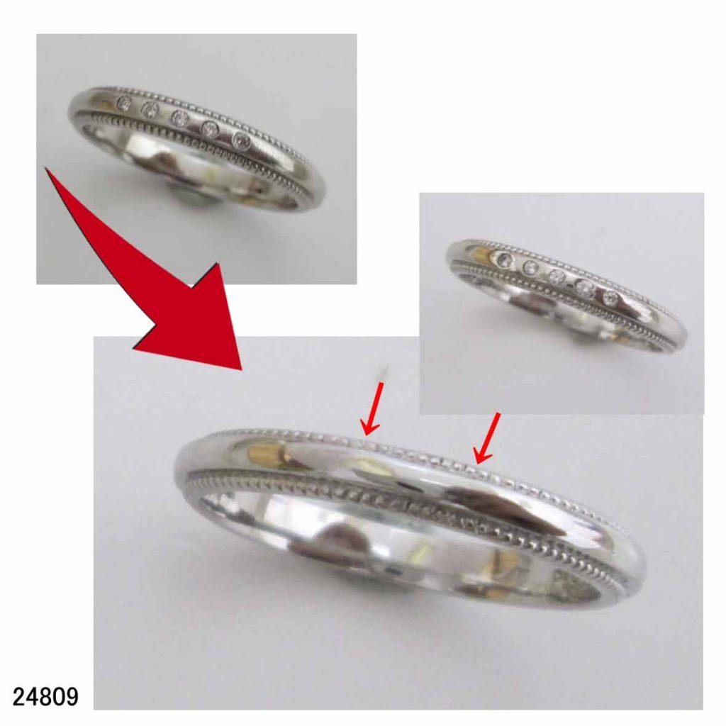 24809ヨンドシープラチナ950結婚指輪サイズ直し