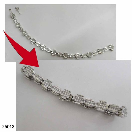 25013 K18WGミステリーセッティングダイヤブレスレット修理