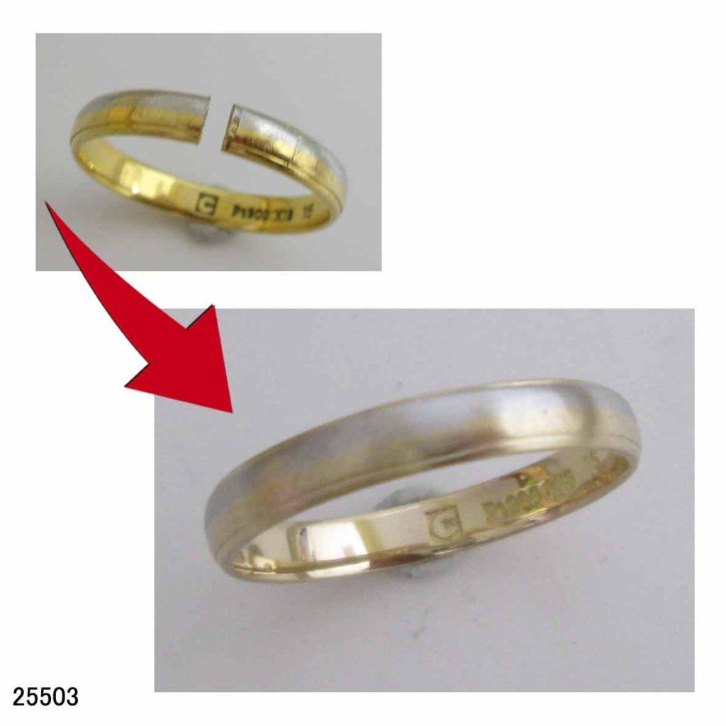 25503K18Pt結婚指輪サイズ直し