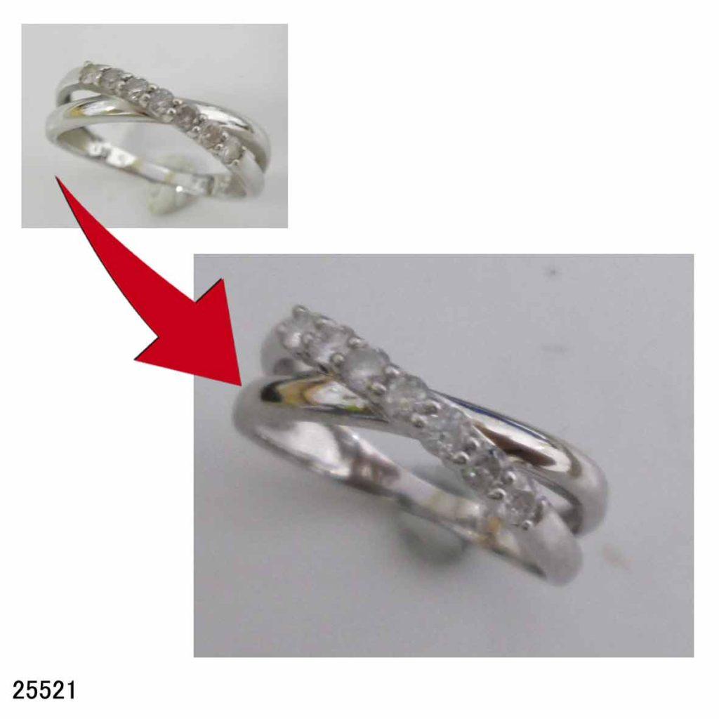 25521K10WGダイヤリングサイズ直し