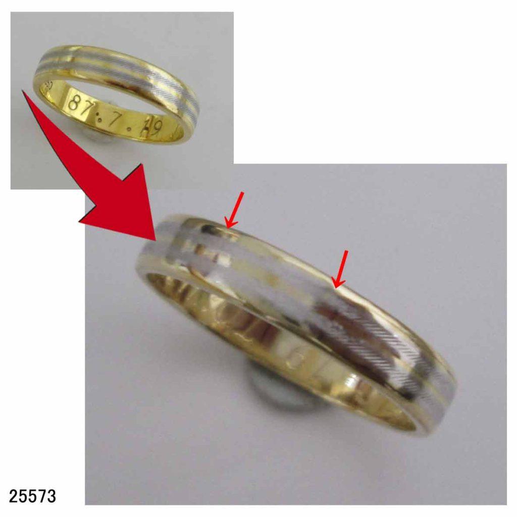 25573K18Pt結婚指輪サイズ直し