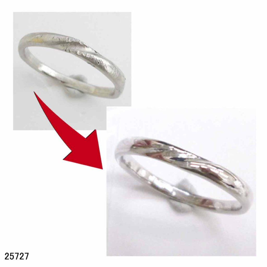 25727Pt950結婚指輪サイズ直し
