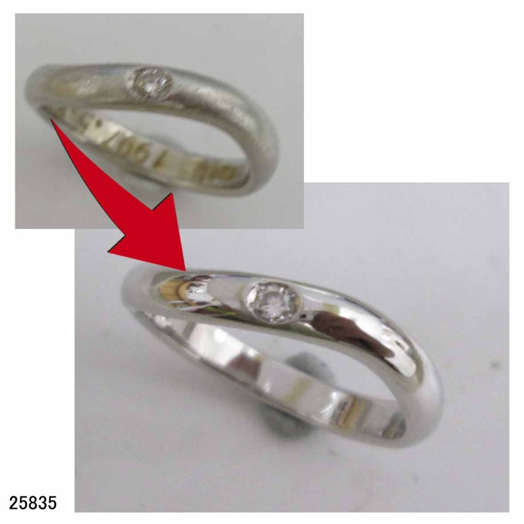 25835プラチナ1000結婚指輪サイズ直し
