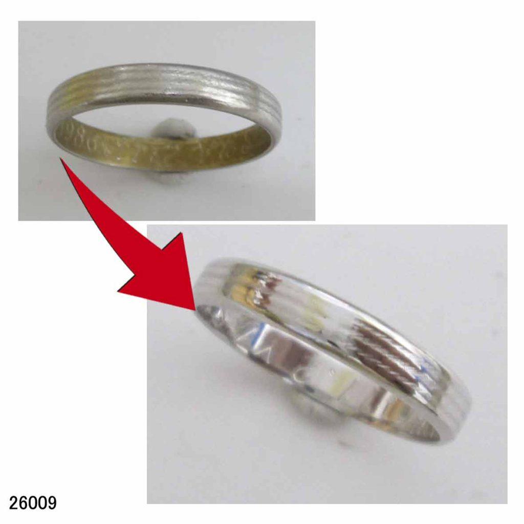 26009プラチナ結婚指輪サイズ直し