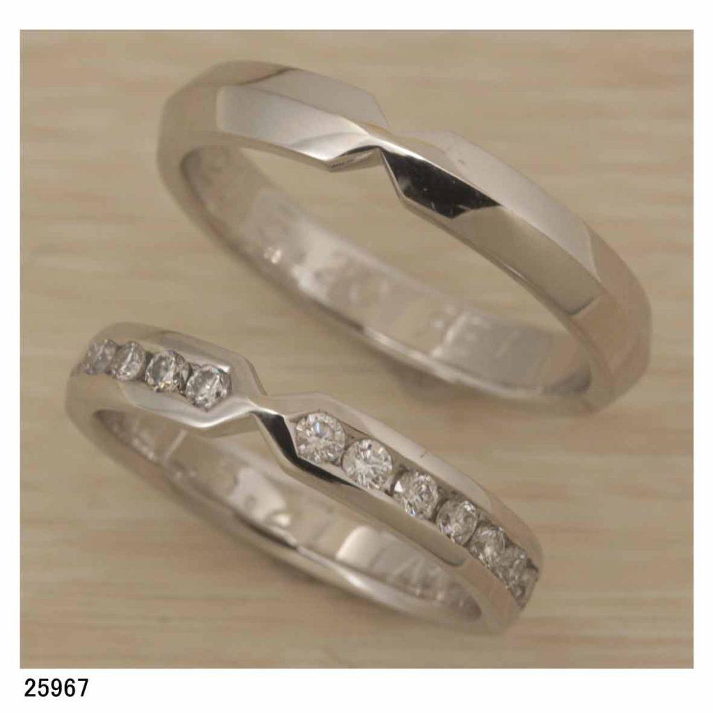 25967Pt950オーダーダイヤエタニティ結婚指輪